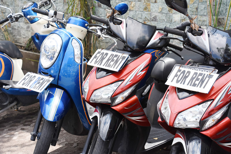 Scooters for rent in Bali