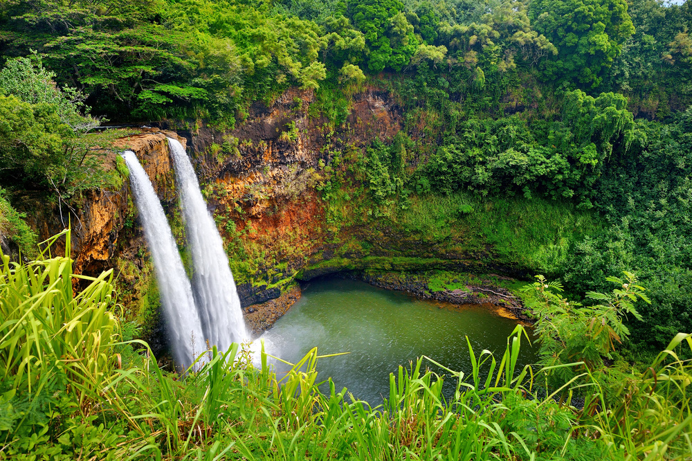 20 Surreal Places to Add to Your Must-visit List - Kauai Wailua Waterfalls