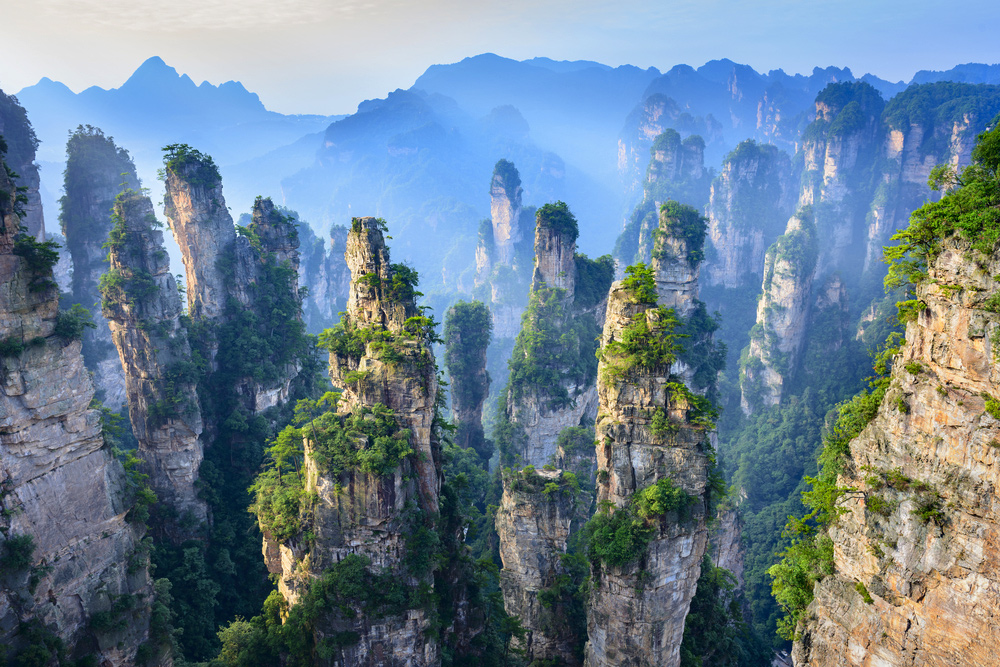 20 Surreal Places to Add to Your Must-visit List -Zhangjiajie NationalForest Park