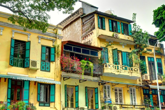 Hanoi: a house in the French Quarter