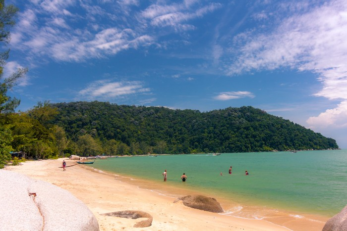 Penang: white shore of Monkey Beach