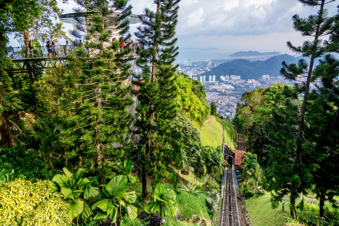 Penang: funicular train up Penang Hill