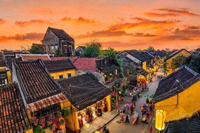 Hoi An: Aerial view of Ancient Town
