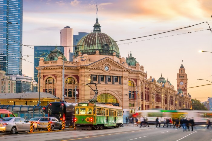 Melbourne: busy beautiful CBD
