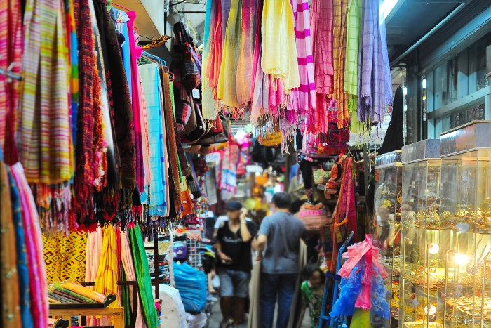 Bangkok: scene at the Chatuchak weekend market
