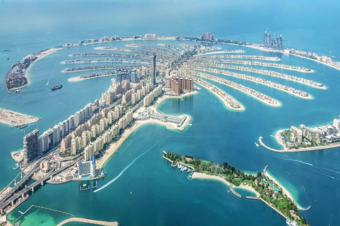 aerial view of the Palm Jumeirah