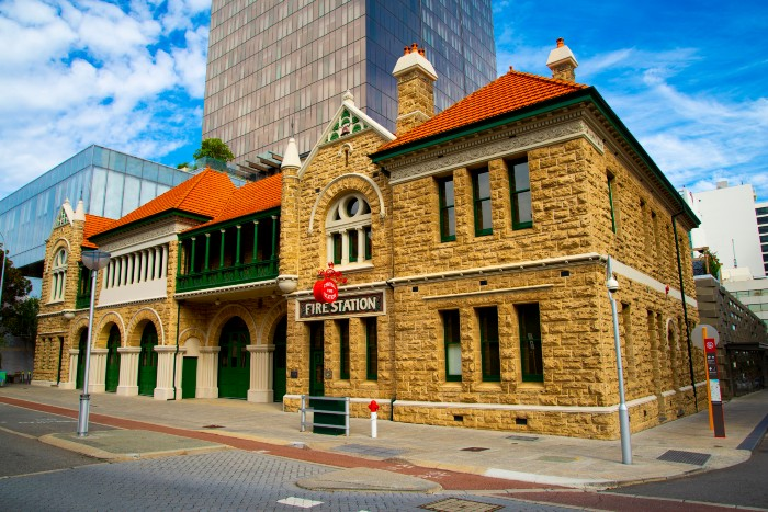 The old fire station in Perth