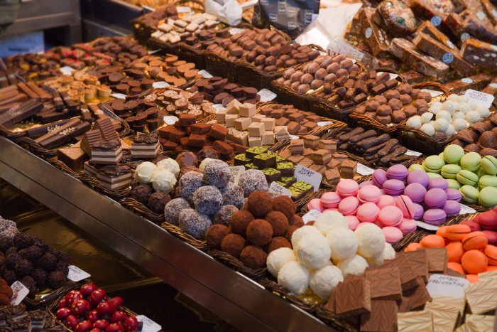 Paris: a display of colourful desserts