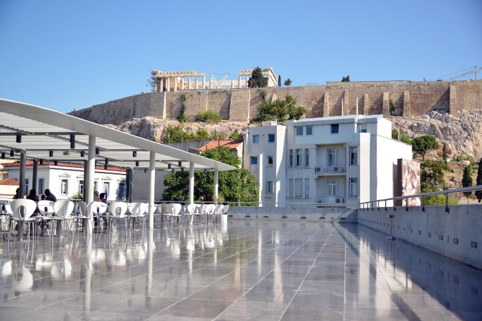Athens: the facade of the Acropolis Museum