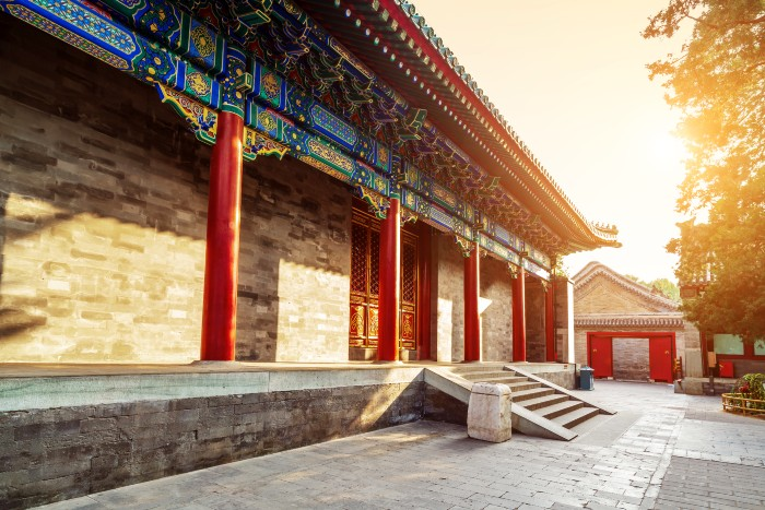facade of an old Chinese palace