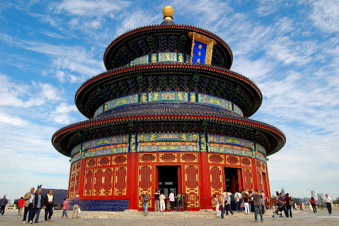Temple of Heaven with tourists everywhere
