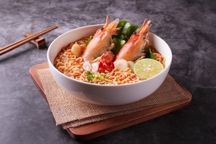 tom yum soup in a bowl