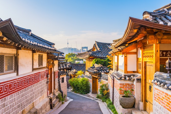 Seoul: a village with traditional houses