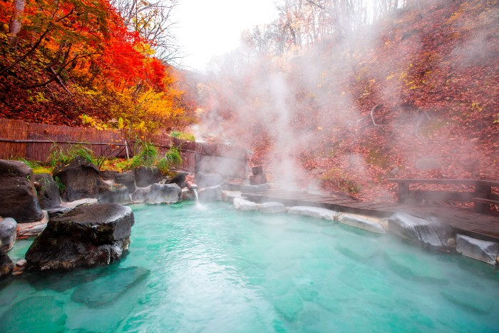 a hot spring looks beautiful