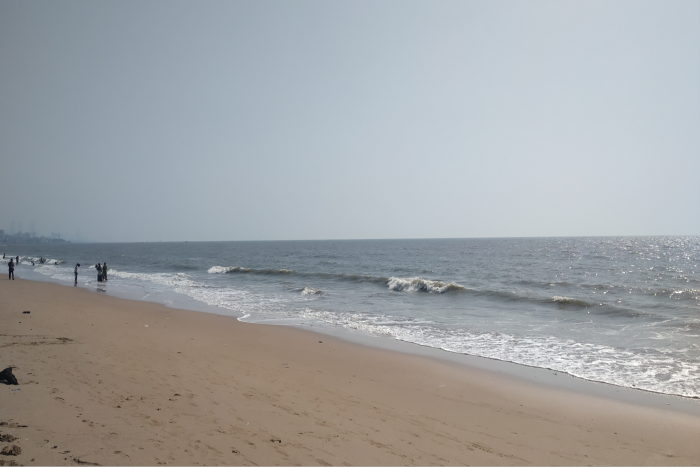 Juhu Beach in Mumbai where there are a very few people