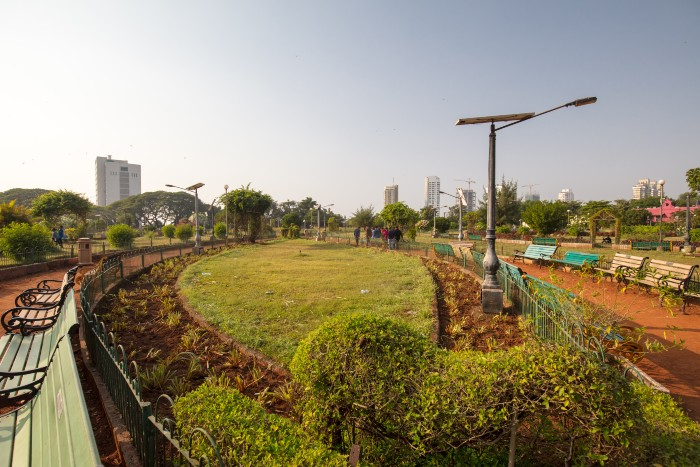 a plain field in the Hanging Gardens of Mumbai