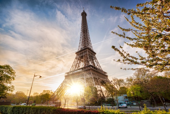 Paris: The Eiffel Tower in the early morning
