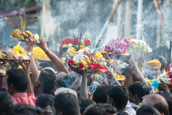 Penang: locals performing their religious ritual